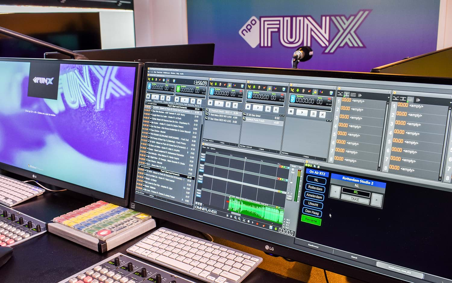 The studio of FunX, equipped with OmniPlayer