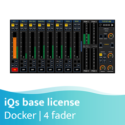 Afbeelding van Axia iQs Virtual Mixing Console Software vier-fader basis licentie - docker