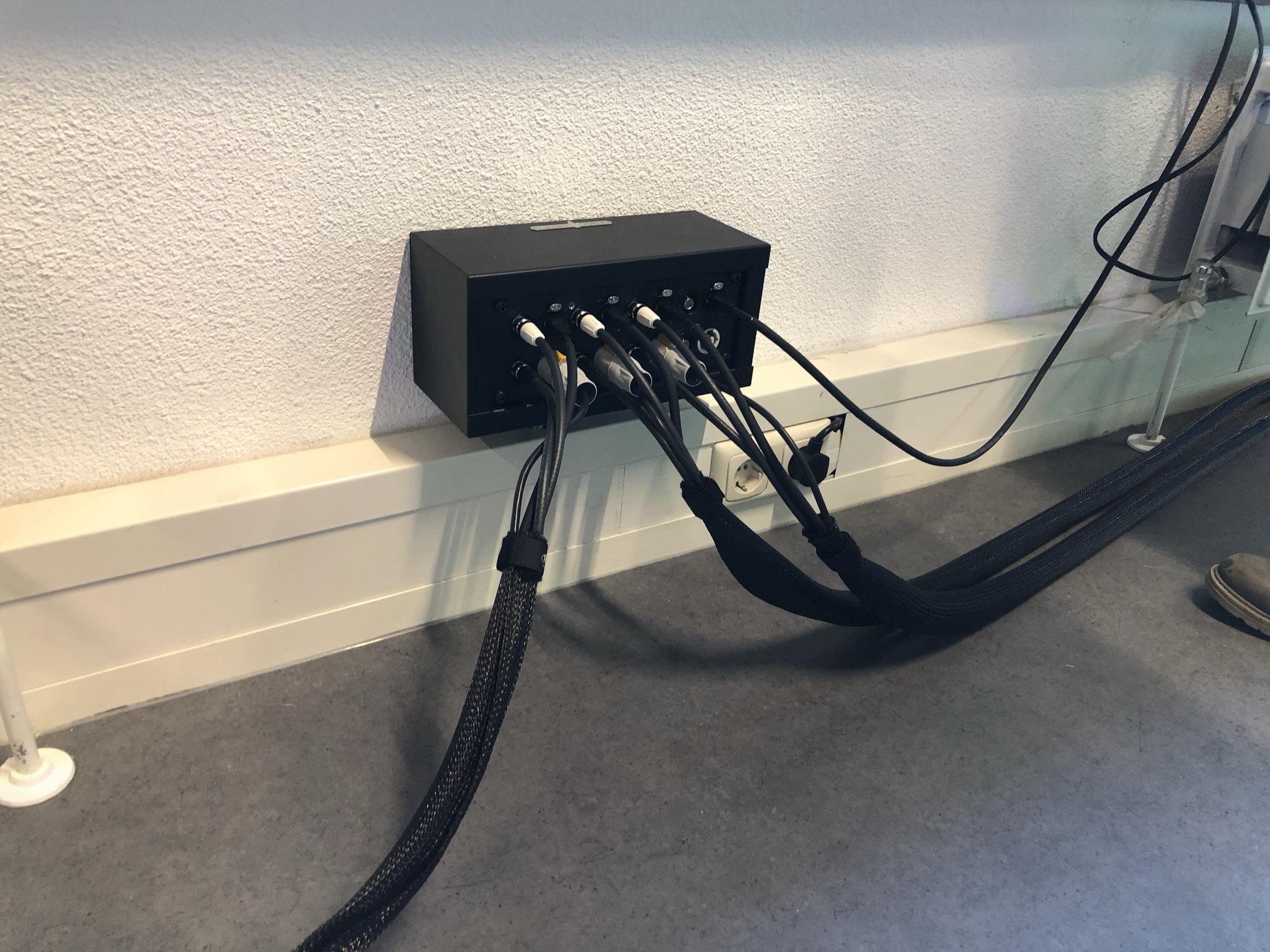 Wallbox met HD-SDI aansluitingen